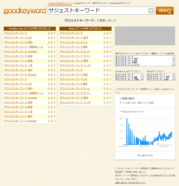 goodkeyword表示例